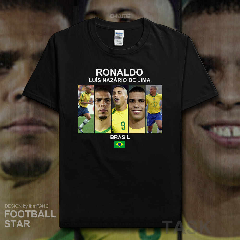 sports shoes bfe59 6736a Ronaldo Luiz Nazario De Lima t shirt 2018 jerseys Brazil ...
