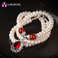 J.MOSUYA Natural Pearl Necklace For Women Real Freshwater Pearl Jewelry