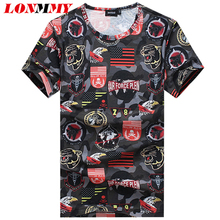 LONMMY Plus size M-5XL Fashion t shirt mens t shirts Natural silk Tops Slim Short sleeve O-neck Tees hip hop t shirt 2017 summer