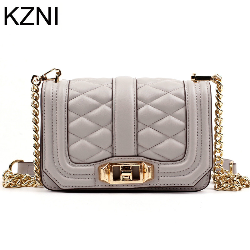 KZNI Genuine Leather Purse Crossbody Shoulder Women Bag Clutch Female Handbags Sac a Main Femme De Marque L110622 kzni genuine leather handbag women designer handbags high quality phone bag purses and handbags pochette sac a main femme 9022