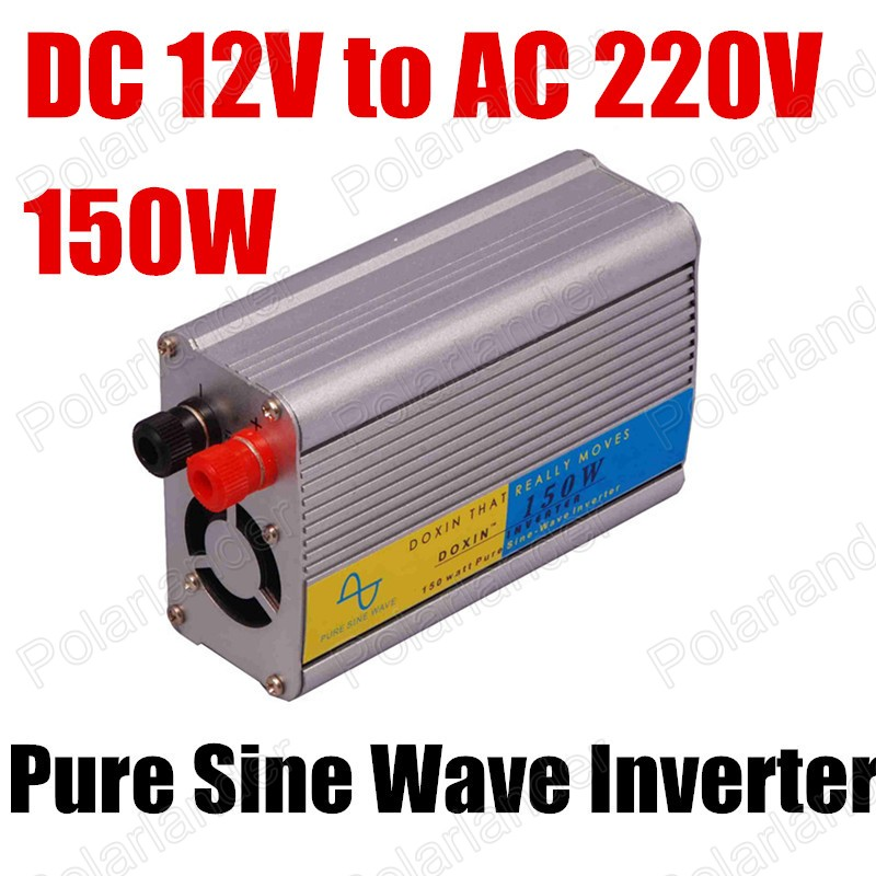 Pure Sine Wave Power Inverter DC12V to AC 220V 150W hot sale For Home Car Boat Using Free Shipping dc12v to ac220v pure sine wave power inverter 1500w dc to ac home use power inverter dc to ac car power inverter