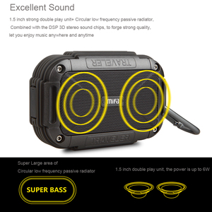 Image 2 - MIFA F7  Bluetooth 4.0 Speaker IP56 Dust Proof Water Proof speaker,AUX.Camping Speakers Metal Housing Shock Resistance Speakers