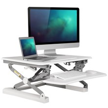 Loctek M1 EasyUp Height Adjustable Sit Stand Desk Riser Foldable Laptop Desk Notebook/Monitor Holder Stand With Keyboard Tray