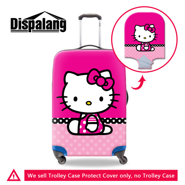 Dispalang cartoon hello kitty elastic travel luggage protective covers fashion waterproof anit-dust suitcase cover with zipper