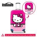 Dispalang dos desenhos animados olá kitty elastic poeira anit-mala de viagem bagagem tampas de proteção à prova d' água moda capa com zíper