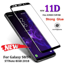 11D Full Curved Tempered Glass For Samsung Galaxy S8 S9 Plus