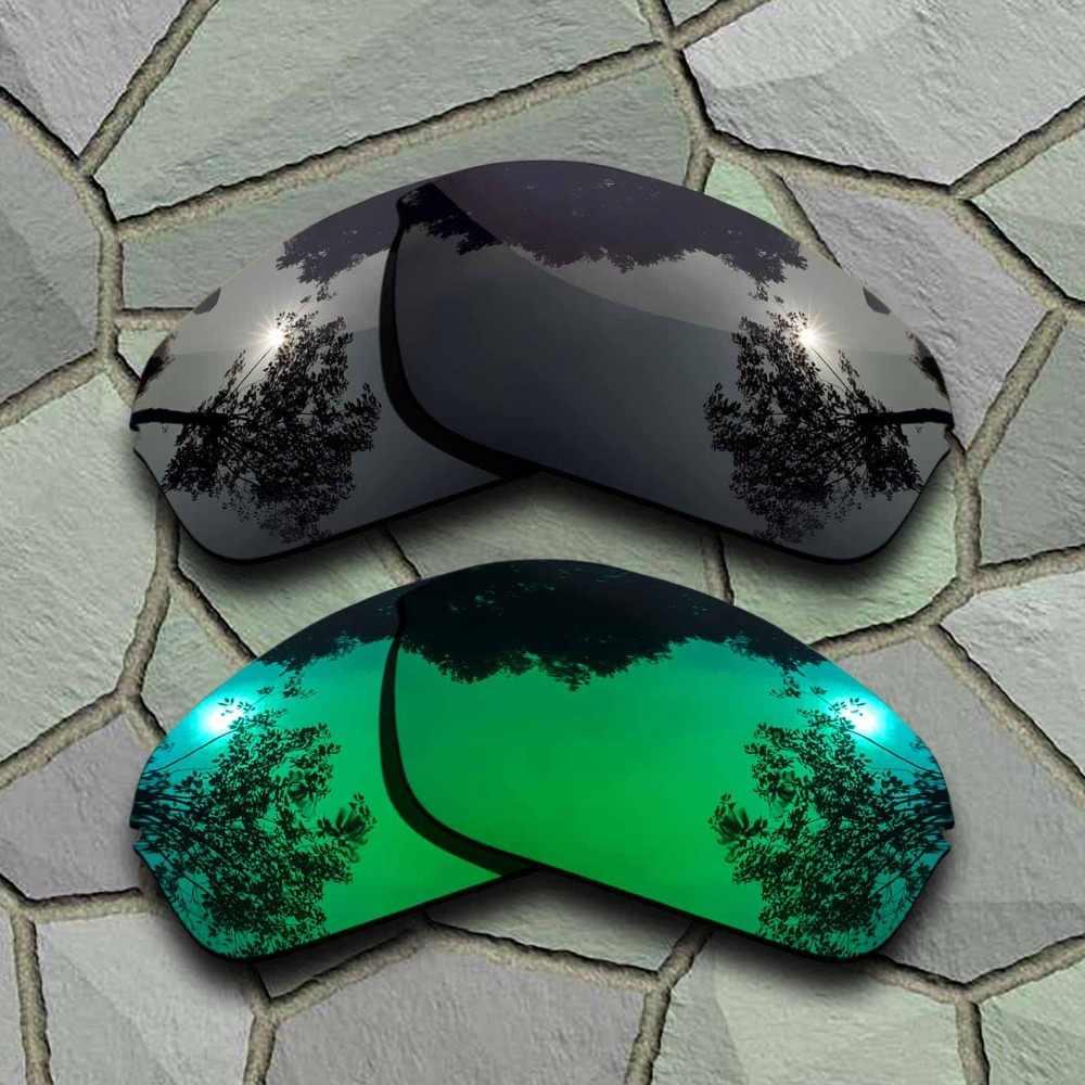 Grey Black&Jade Green Sunglasses Polarized Replacement