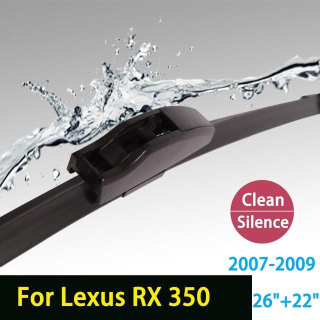 """Escovas para Lexus RX série 26 """"+ 22"""" RX350 2007-2009 fit padrão J gancho limpador braços só HY-002"""