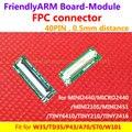 FPC разъем, 40PIN 0.5 мм расстояние для ЖК и доска, для W35 P43 A70, S70, костюм для MINI2440 TINY6410 TINY210 mini210s