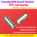 FPC connector, 40PIN 0.5mm distancia para LCD y placa, para W35 P43 A70, S70, juego para MINI2440 TINY6410 TINY210 mini210s