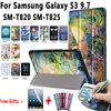 100 TOP Quality PU Leather Magnetic Smart Slim Painting Cover For Samsung Galaxy Tab S3 9