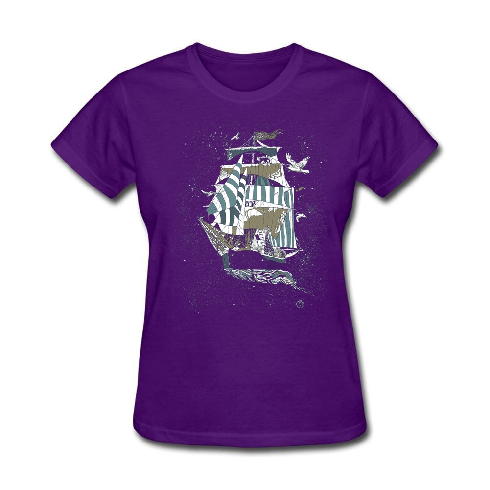 Womens Logo Sail to The Moon Tee Shirts Creator NOEL Gifts Daily Wear Adult Grey space journey T-Shirt Short-sleeve
