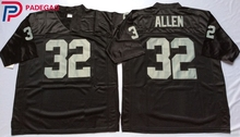 Logotipo bordado Marcus Allen 32 blanco negro retroceso de fútbol jersey  para fans regalo barato 1108 457fb7d27