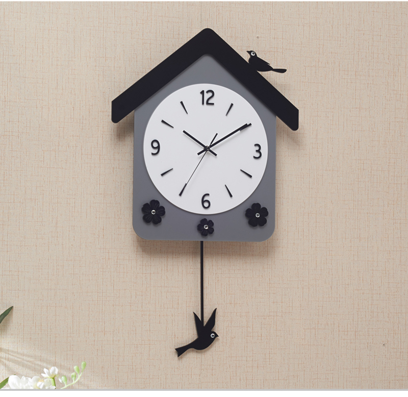 Rock n Roll Wall Clock Retro Room Clock Cloock Nordic Clock Wood Wall Clock Mickey Kitchen Big Clock Wall Mirror Wall Clock Watch (9)