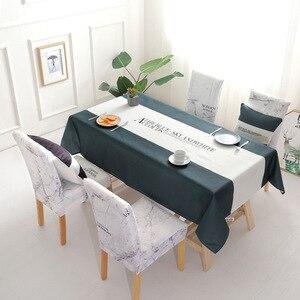 Image 2 - Noel geyik su geçirmez masa örtüsü toptan masa örtüsü düğün ev otel dekorasyon masa sandalye seti