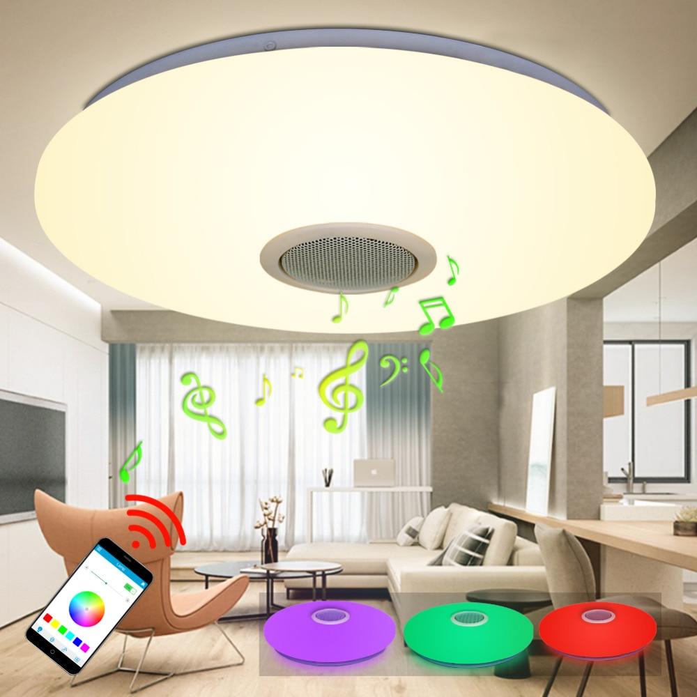 Jjd Modern Rgb Ceiling Light Led Lamp Panel Round Hall Surface Mount Flush Remote Control Living Room Bedroom Lighting Fixture
