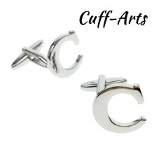 Cufflinks for Men 26 Alphabet Letters Personality  For Initials by Cuffarts C10073