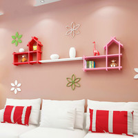 Children's room wall decoration paint partition wall racks hanging small house shelves wall cabinet shelf lattice XI311548