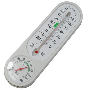 Hanging Household Mercury Pointer Thermometer Hygrometer Two-In-One Free Shipping