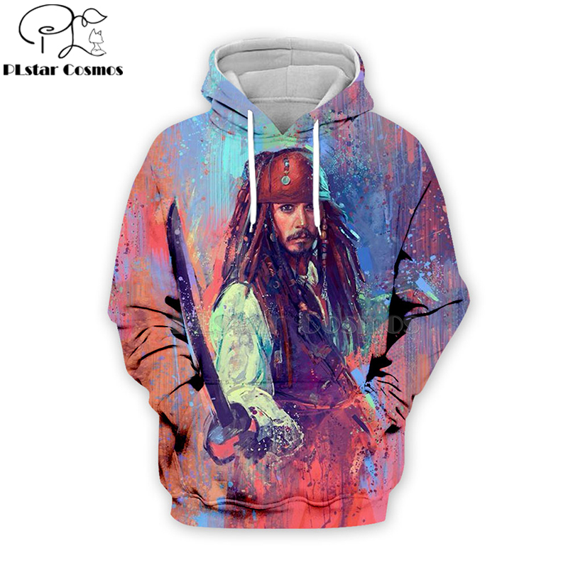 2019 Pirates Of The Caribbean Hoodies Fashion Men/Women 3D Sweatshirts Print Hooded Unisex Tops Casual Long Streetwear -2