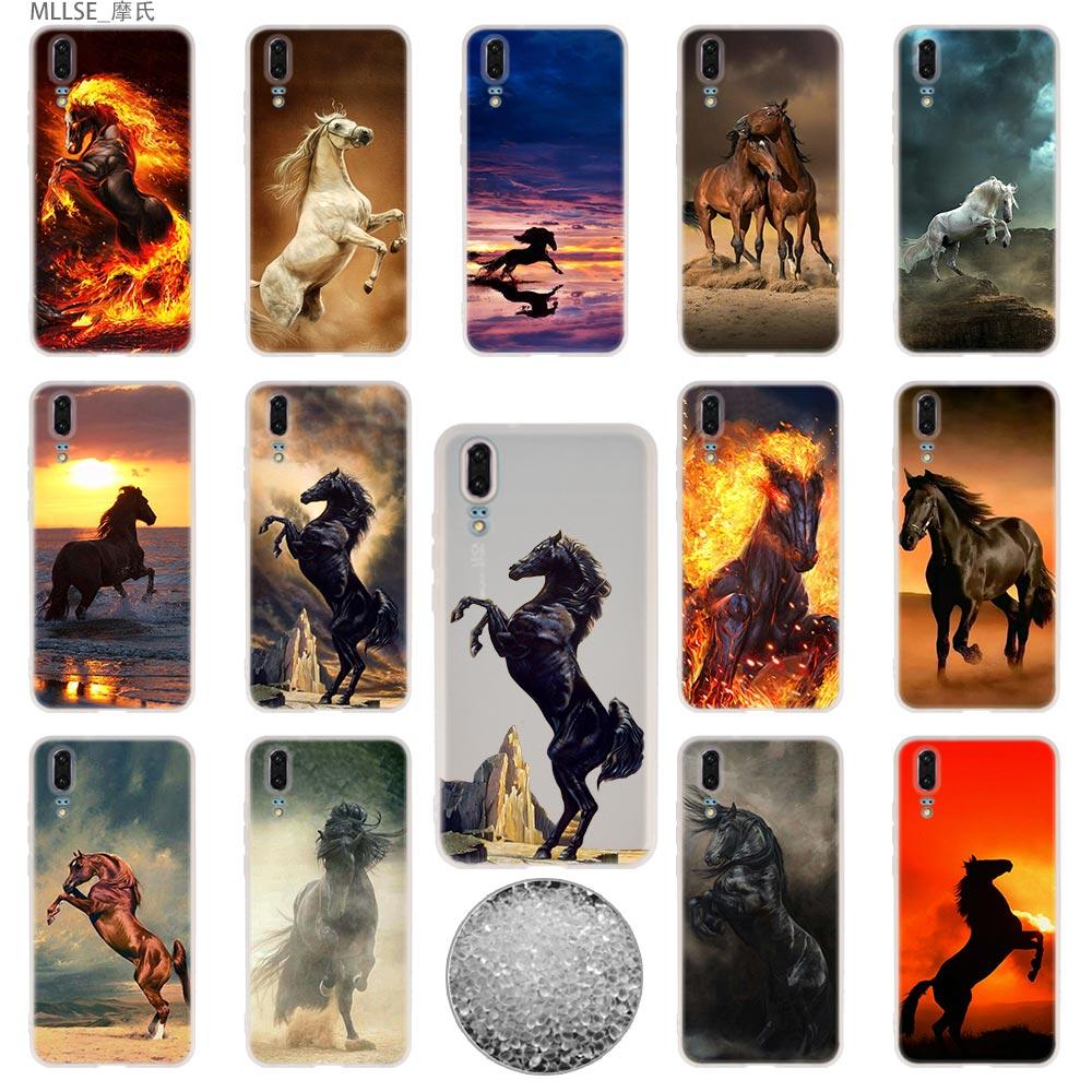 Vertrouwend Tpu Cover Telefoon Gevallen Zachte Voor Huawei P 20 Pro P10 Plus P9 P8 Lite 2017 P30 Pro Samrt 2019 Nova 3e Fijnste Paarden Aromatische Smaak
