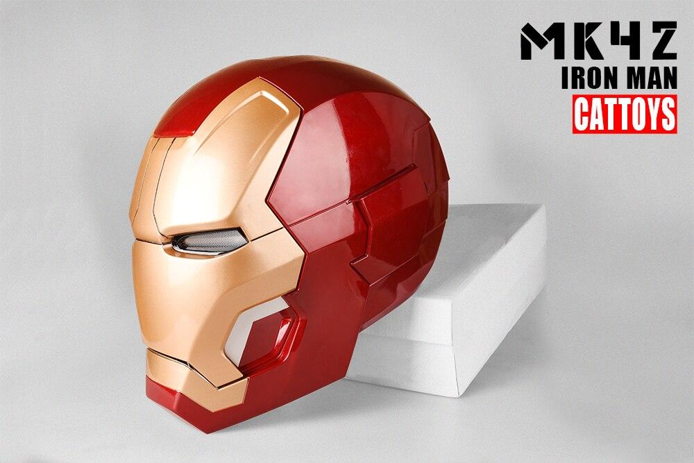 CATTOYS Iron Man MK42 Cosplay Mask Helmet LED Lighting 1:1 Wearable Manual Open