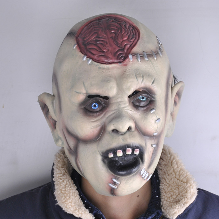 Halloween Mask Frightening Headgear Bar Decoration Prop Exceed Terror Devil Rotten Head Burst Brain Mask Special нож enlan el 03b длина лезвия 109мм