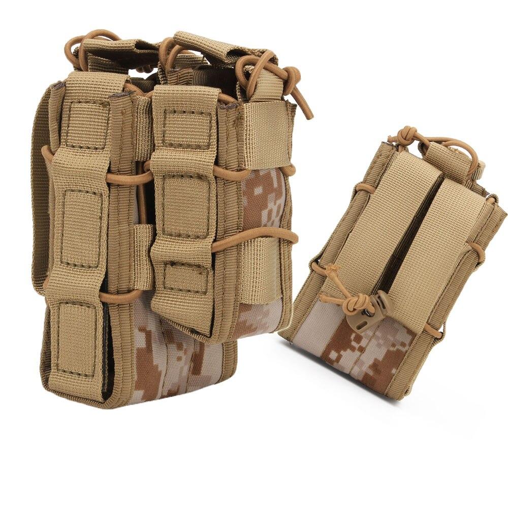 Trava de Coldre Suporte para Cinto Dupla de 9mm 5.56 para Pistola Tático Bolsa Molle Estojo Rígido