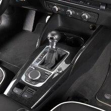Автомобиль Стайлинг для Audi A3 8 В 2014-2018 подкладке Шестерни коробка Панель ДВЕРИ ОТДЕЛКОЙ подлокотник коробка блестки Центрального управления Панель задний выход