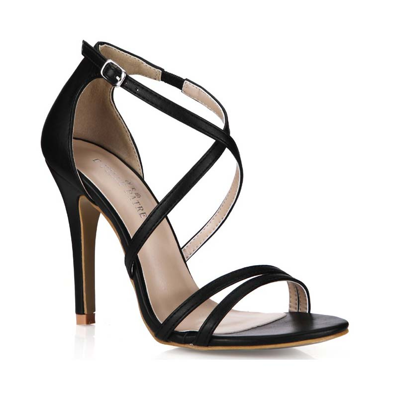 Big size 35-43 Women Party Sandals 2016 Summer Brand Elegant Buckle High Heel Sandalias Mujer Black Women's Dress Shoes Sandals hot women party sandals 2016 summer brand elegant high heels sandalias women s dress shoes sandal sjl342 page 7