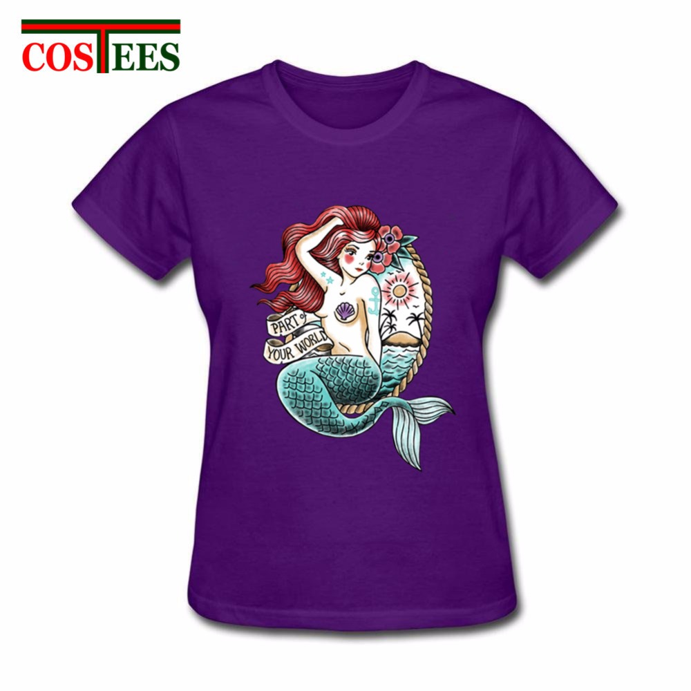 Hot sale sexy spicy exotic mermaid tatto t shirt camisa ladies tee shirt Camiseta T-Shirt Women punky tshirt girl punk Tee femme