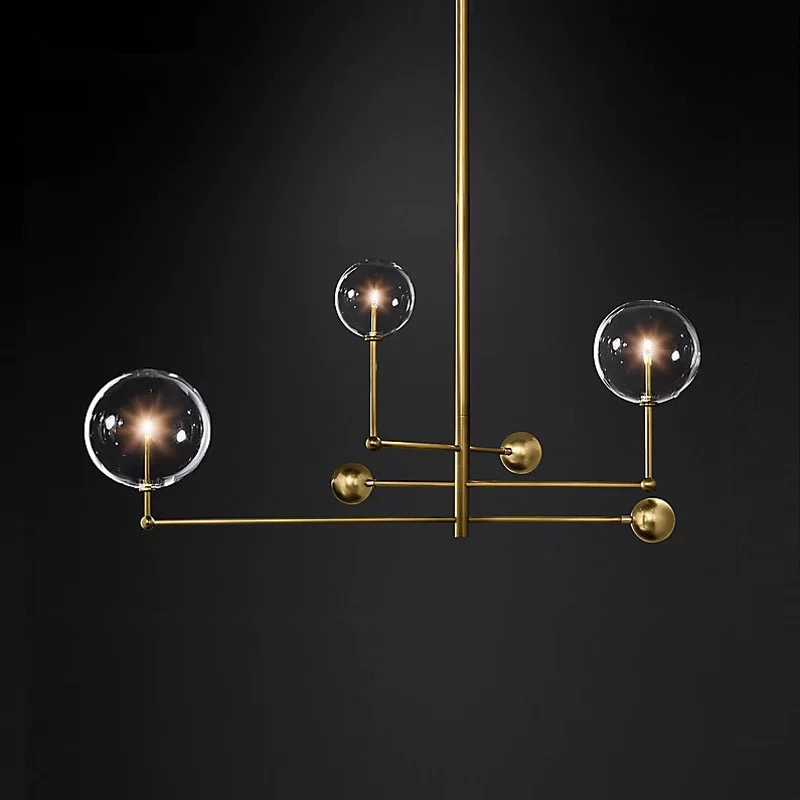 Image 2 - Postmodern LED chandelier ceiling living room hanging lights home fixtures Nordic dining room pendant lamps Glass ball lightingPendant Lights   -