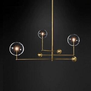 Image 2 - Postmodern LED chandelier ceiling living room hanging lights home fixtures Nordic dining room pendant lamps Glass ball lighting