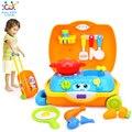 HUILE BRINQUEDOS 2016 Novos Brinquedos Do Bebê de Viagem Piquenique Cozinhar fogão Brinquedo Mala incluído, utensílios de cozinha, placas, brinquedo refeição, bacon, e ovos