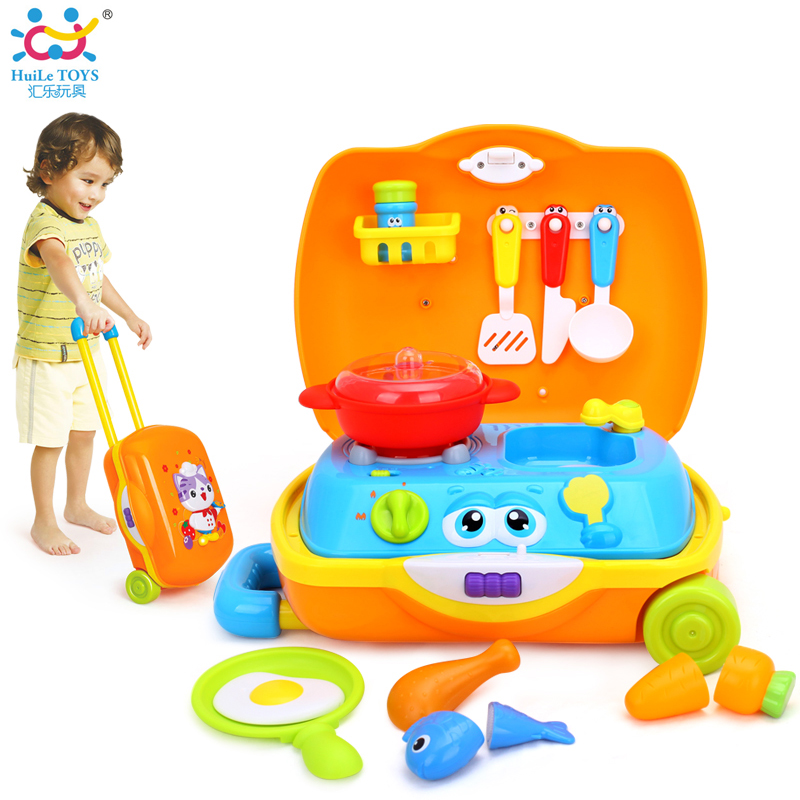 HUILE TOYS 3108 Baby Toys Traveling Picnic Cooking Suitcase Toy included stove, utensils, plates, toy meal, bacon, and eggs huile toys 3108 baby toys traveling picnic cooking suitcase toy included stove utensils plates toy meal bacon and eggs