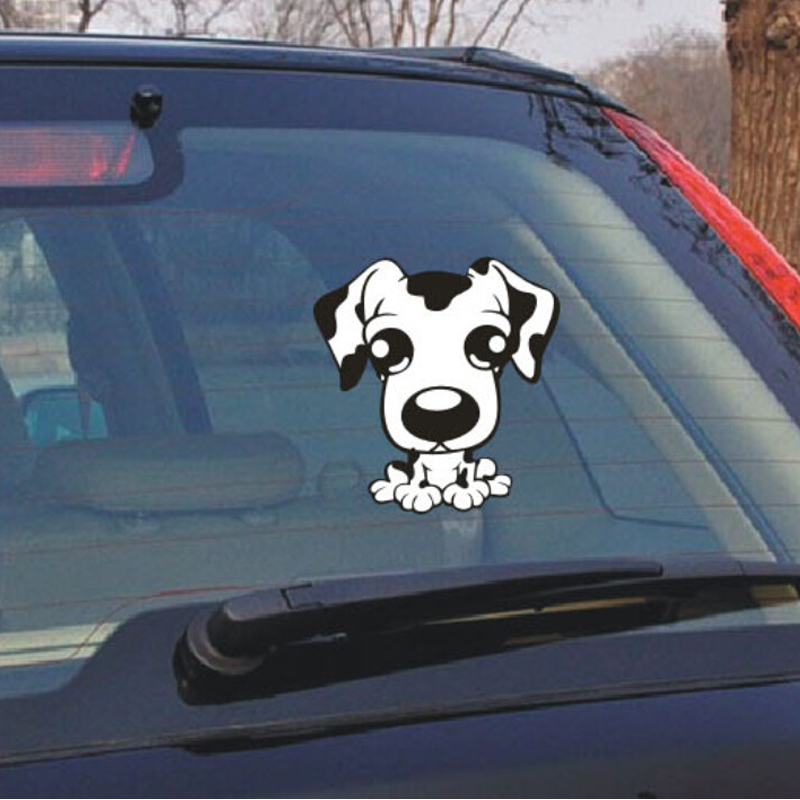 (50 pieces /lot) Wholesale funny big eye cartoon sticker decal for car window laptops car styling