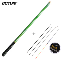 Goture Carbon Fiber Telescopic Fishing Rod Package  3.0-7.2M Stream Fishing Rod with Spare Suggestions, Fishing Float Rig Set vara de pesca