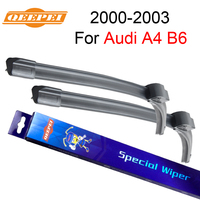 QEEPEI For Audi A4 B6 2000 2003 22 22 Wipers Blade Accessories For Auto Rubber Windshield