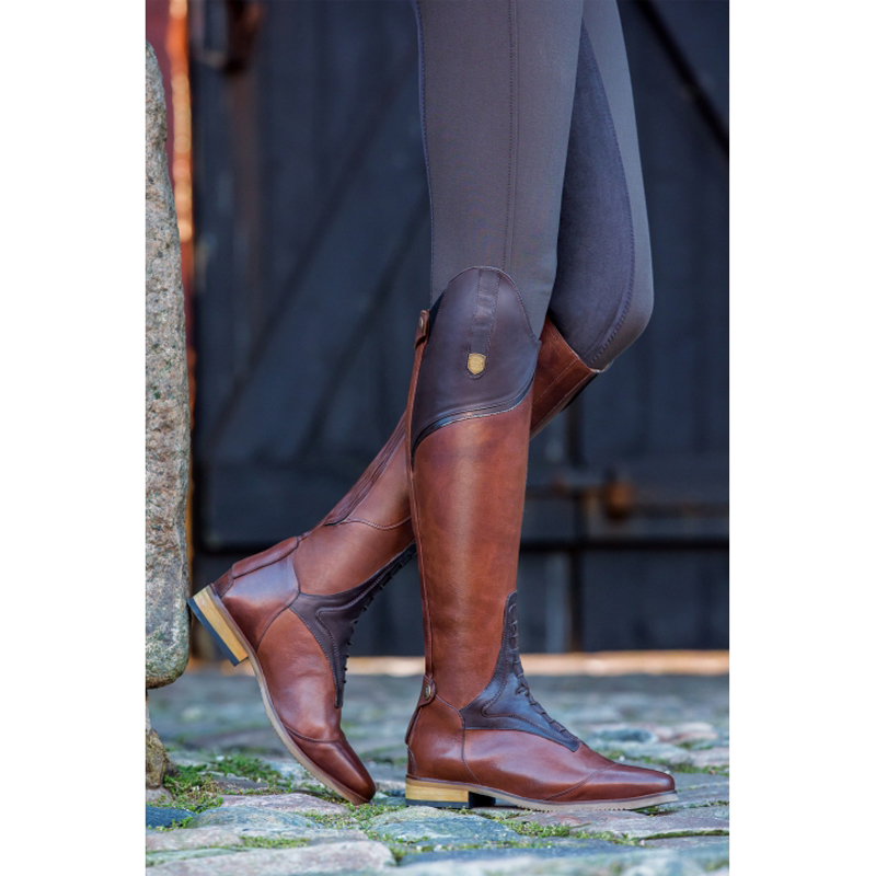 Женские сапоги в жокейском стиле высокие женские Сапоги выше колена на шнуровке, кожаные сапоги до колена размера плюс 40, 41, 42, 43