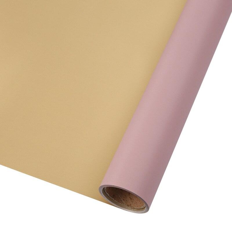 60 см* 10 м/рулон конфеты цвет цветок оберточная бумага Роза свадебная бумага для украшения на рождество упаковка букета материал - Color: N2