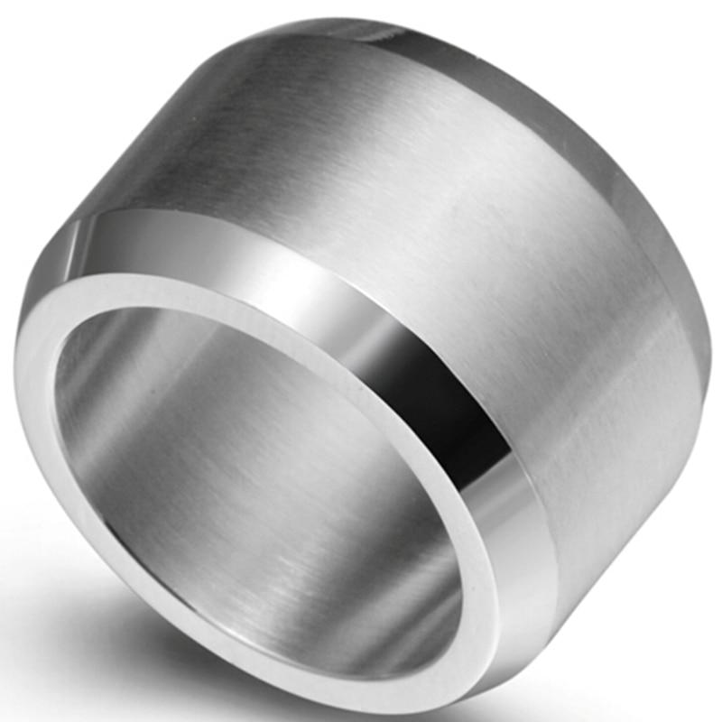 15mm size 7 15 stainless steel wedding engagement ring band biker cocktail class graduation classic - Biker Wedding Rings