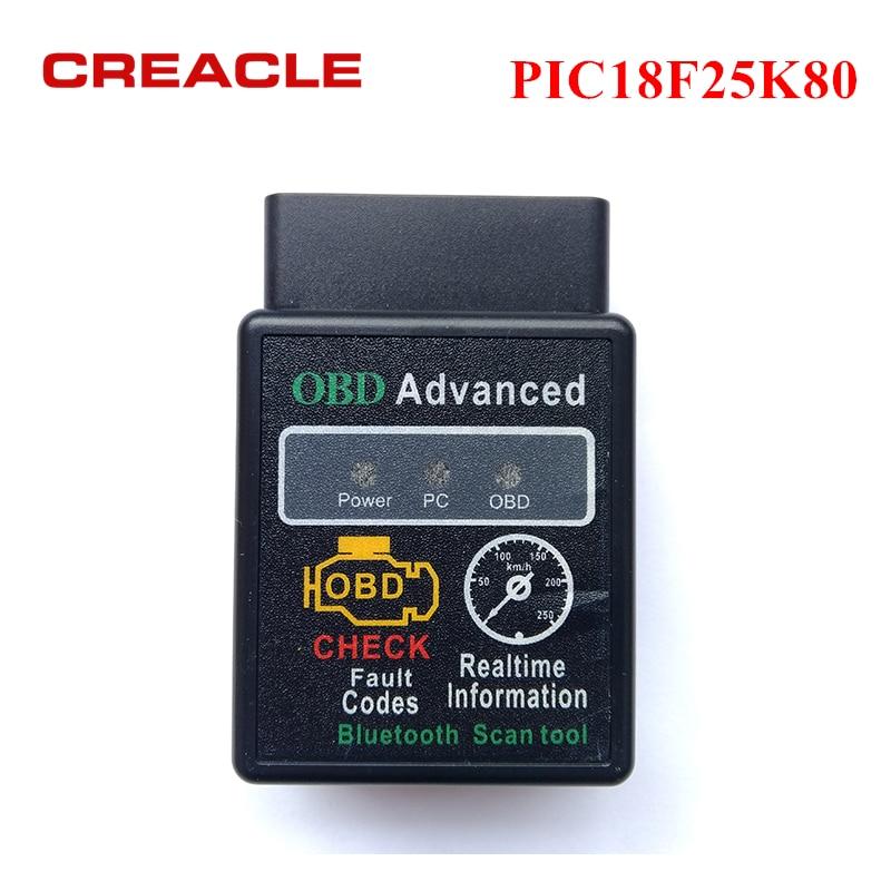 Diagnostic-tool ELM327 V1.5 with PIC18F25K80 Chip Auto Car Scanner OBD2 ELM327 V 1.5 Bluetooth 3.0 for Android Code Reader