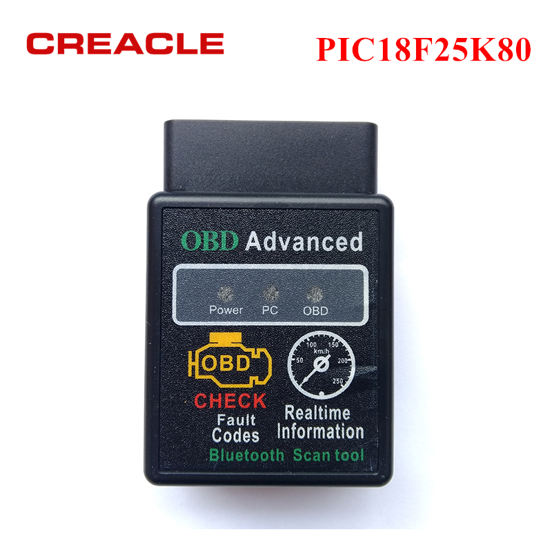 Diagnostico-tool ELM327 V1.5 con PIC18F25K80 Chip Auto Car Scanner OBD2 ELM327 V 1.5 Bluetooth 3.0 per Android Codice Reader