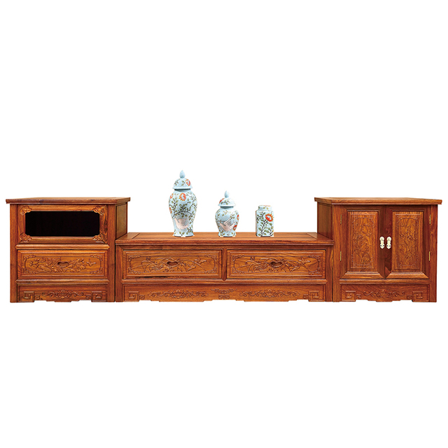 Three Combined Tv Cabinet Living Room Furniture Solid Wood Stands Antique Traditional Chinese Style Wooden Gd053