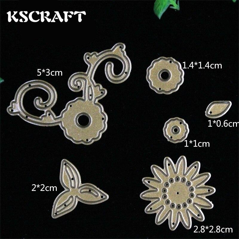 ᑎ‰Kscraft flores y plantas metal Recortes de papel plantillas para ...