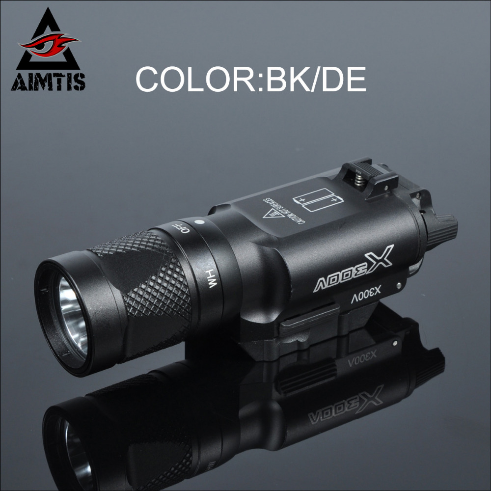 AIMTIS X300 Series X300V IR Flashlight Tactical LED Night Vision Weapon Light Glock 17 18 18C Pistol Armas Fit 20mm Rail greenbase tactical weapon light sf x300 hunting flashlight airsoft pistol scout light constant momentary output picatinny rail