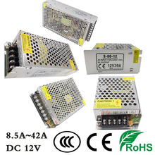 LED Power Supply Strips Lighting Transformers DC12V Light Switching Driver 8.5A 12.5A 16.5A 20A 25A 30A 33A 42A