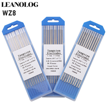 WZ8 Tungsten Electrode Tig Rod 1.0/1.6/2.0/2.4/3.0/3.2/4.0MMx150mm(6)White Head 0.8% Zirconiated Welding