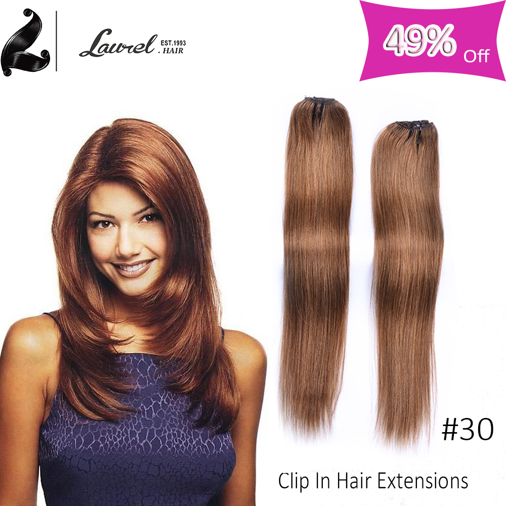 Laurel Human Hair Clip Extensions Malaysian Virgin Hair Straight Clip In Natural Hair Extensions 9 Colors With 16-24inches 613