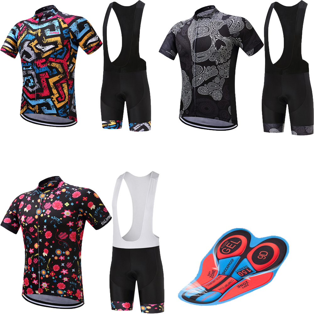 Retro men's cycling jersey set 9D gel pad bicycle clothing kit 2018 maillot mtb pro team racing bike wear sports suits clothes scoyco motorcycle riding knee protector extreme sports knee pads bycle cycling bike racing tactal skate protective ear